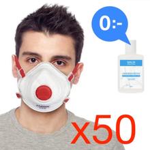 Antgamer 50 x CE FFP3 Munskydd + 20 GRATIS Handdesinfektion Skydd Mun / Mask Sk