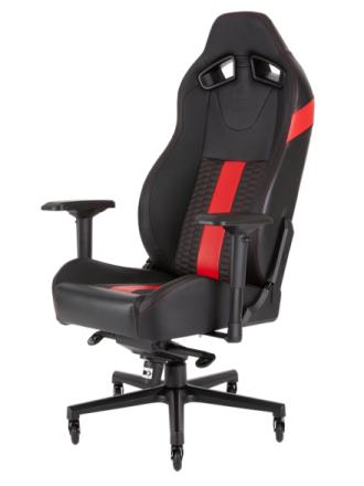 T2 Road Warrior Chair - Red Krzes?o gamingowe - Czarno-czerwony - Skóra PU - Do 130 kg