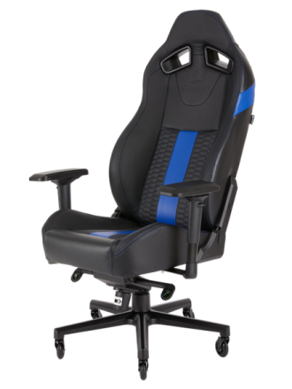 T2 Road Warrior Chair - Blue Krzes?o gamingowe - Czarno-niebieski - Skóra PU - Do 130 kg