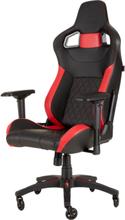 T1 RACE 2018 Gaming Chair - Red Krzes?o gamingowe - Czarno-czerwony - Skóra PU - Do 120 kg