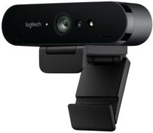 Logitech BRIO 4K Ultra HD webcam - Webbkamera - färg - 4096 x 2160 - ljud - USB
