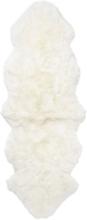 Gently långhårigt fårskinn 2-set - 180x60 cm - Vit