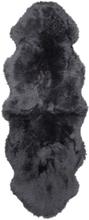 Gently långhårigt fårskinn 2-set - 180x60 cm - Träkol