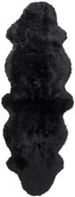 Gently långhårigt fårskinn 2-set - 180x60 cm - Svart