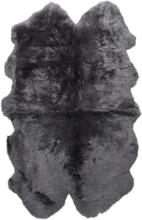 Gently långhårigt fårskinn 4-set - 180x120 cm - Träkol