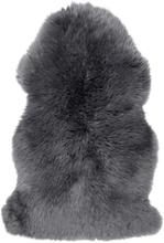 Gently långhårigt fårskinn - 95-100x60 cm - Träkol