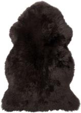 Gently långhårigt fårskinn - 95-100x60 cm - Mörkbrun