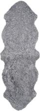 Curly fårskinn - 180x60 cm - Silvergrå