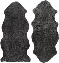 Curly fårskinn - 135x55 cm - Mörkgrå