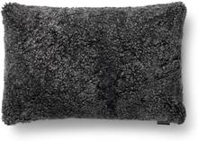 Curly kuddfodral fårskinn - Mörkgrå