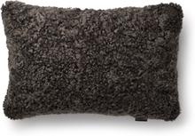 Curly kuddfodral fårskinn - Brun
