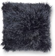 Shansi kuddfodral fårskinn - Mörkblå/vit