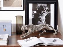Beliani Dekorativ figur silver LEOPARD