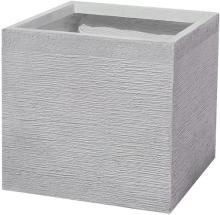 Kukkaruukku valkoinen 50x50x46 cm PAROS