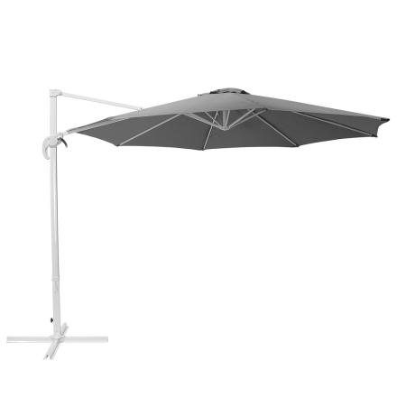 Riippuva aurinkovarjo ø 300 cm - tummanharmaa SAVONA