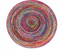Pyöreä värikäs matto 140cm TOKAT