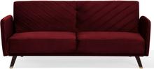 Sohva samettinen punainen SENJA
