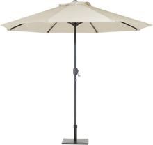 Aurinkovarjo LED-valoilla ø 266 cm - beige RAPALLO