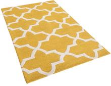 Kuviollinen keltainen villamatto 80x150 cm SILVAN
