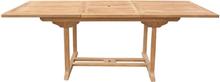Jatkettava suorakulmainen puutarhapöytä 160/220x90 cm JAVA