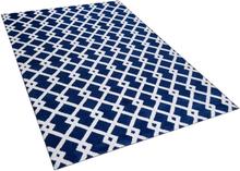 Kuvioitu sininen matto 160x230 cm SERRES