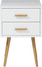 Valkoinen yöpöytä 40 cm ALABAMA