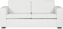 3-istuttava sohva nahkainen valkoinen HELSINKI