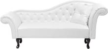 Divaani keinonahkainen oikeakätinen valkoinen LATTES
