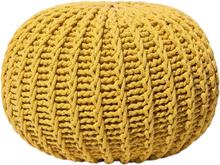 Keltainen neulottu pallorahi 50x35 cm CONRAD II