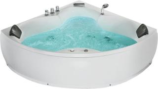 Hjørnebadekar med massage Hvid SENADO