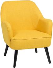 Nojatuoli kankainen keltainen LOKEN