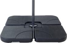 Aurinkovarjon painot musta 4-osainen setti