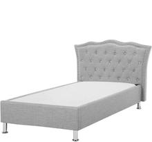 Sänky kankainen 90x200 cm harmaa METZ