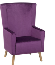 Nojatuoli samettinen violetti ONEIDA
