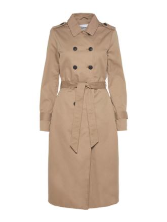 NOISY MAY Long Trenchcoat Women Grey