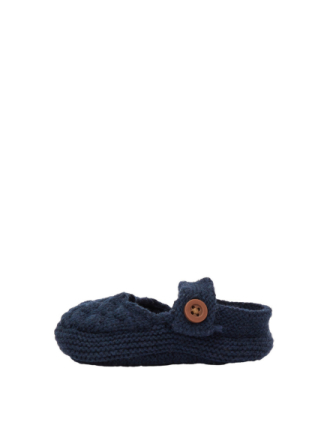 NAME IT Baby Cotton/silk Knitted Slippers Men Blue