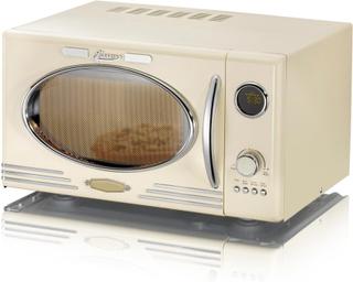 Melissa Retro mikrobølgeovn creme mikroovn med grill