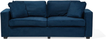 Soffa sammet marinblå FALUN