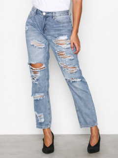 Glamorous Ripped Jeans Loose fit Stonewash