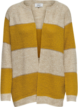 ONLY Striped Knitted Cardigan Women Beige