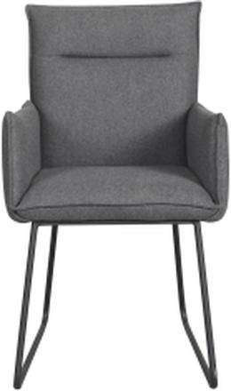 Yukon stol Mörkgrå/svart