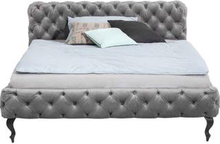 KARE DESIGN Desire seng - grå velour, 160x200
