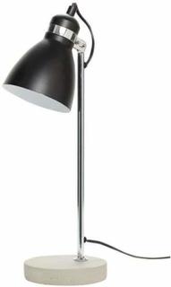 Hübsch - Bordlampe, metal/beton, sølv/sort orange