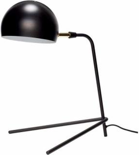 Hübsch - Bordlampe i sort metal orange