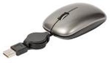 Mus Med Kabel Transportabel 3 Buttons Grå