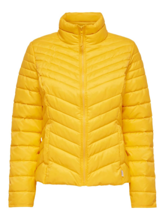 ONLY Short Quilted Jacket Women Yellow