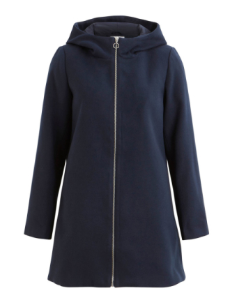 VILA Simple Winter Jacket Women Blue