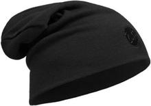 Buff Heavyweight Merino Wool Hat Loose Solid Black