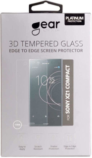 GEAR Hærdet Glas 3D Full Cover Transparent Sony Xperia XZ1 Compact