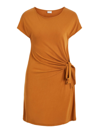 VILA Knot Detail- Dress Women Yellow
